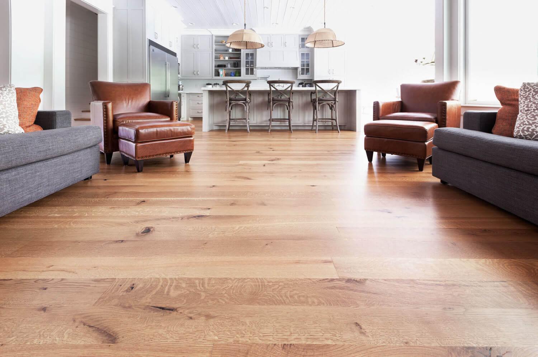 Warm Natural American Walnut Hardwood Flooring.