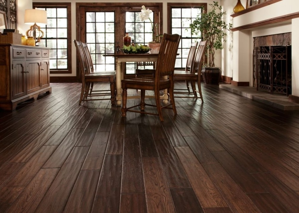 Hardwood flooring installation project by Jerry J